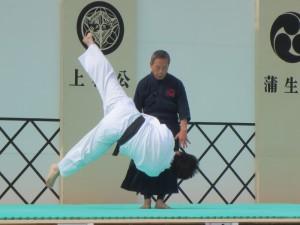 第八回會津鶴ヶ城古武道祭での演武