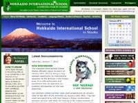 Hokkaido International School in Niseko ウェブサイトイメージ