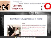 大東流無傳塾アイルランド支部ウェブサイトイメージ
